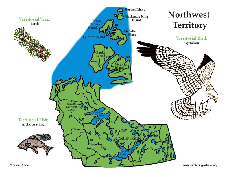 Canadian Territory - Northwest Territories color map
