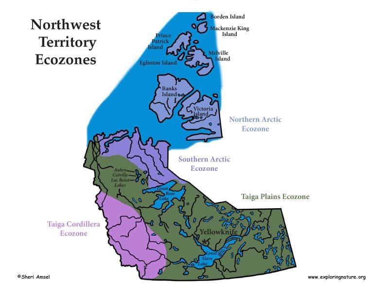 Canadian Territory - Northwest Territories ecozones