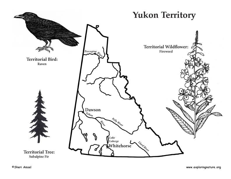 Canadian Territory - Yukon map