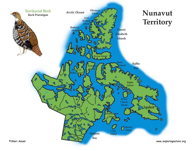 Canadian Territory - Nunavut color map