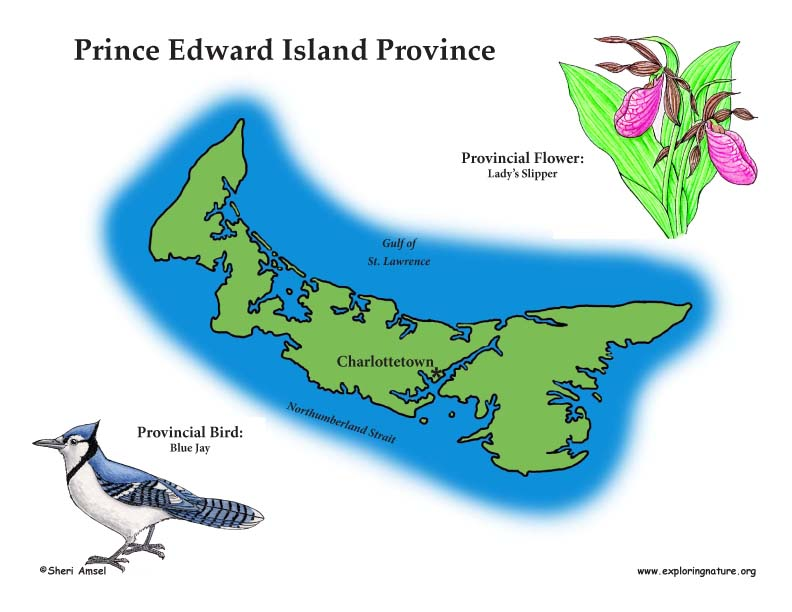 Canadian Province - Prince Edward Island color map