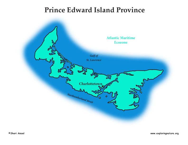 Canadian Province - Prince Edward Island ecozones