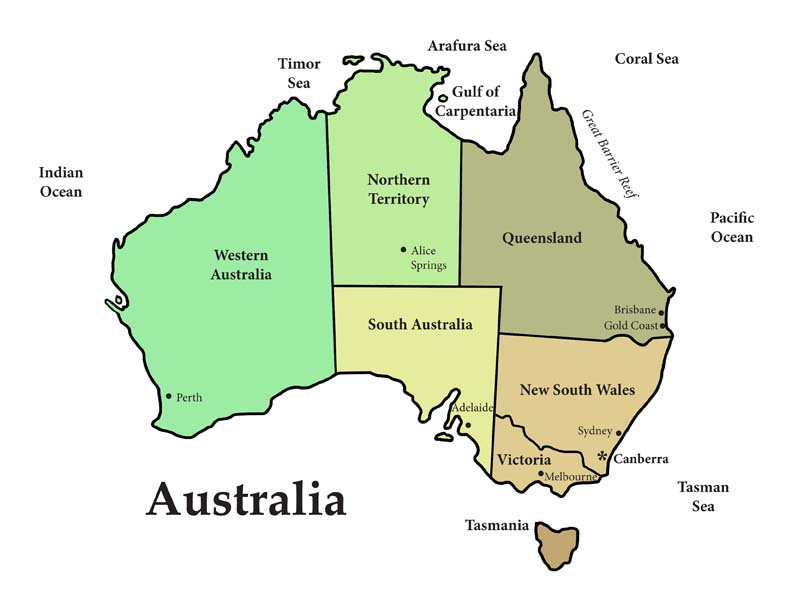 Australia - Habitats, Animals and Activities