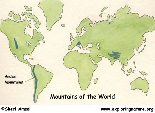 The gallery for Andes Mountains World Map