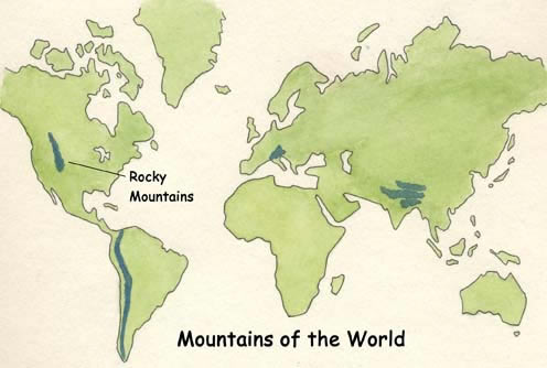 Rocky Mountains On World Map Rocky Mountains