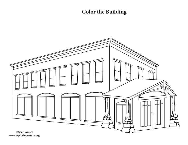 building office coloring page