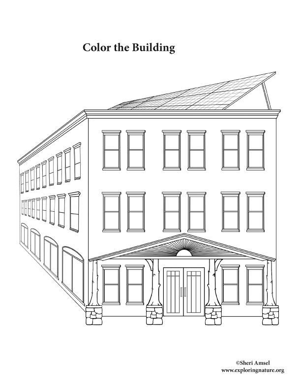 building  solar  coloring page