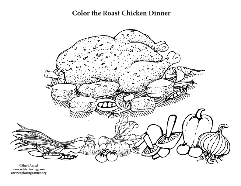 coloring pages dinner - photo#26