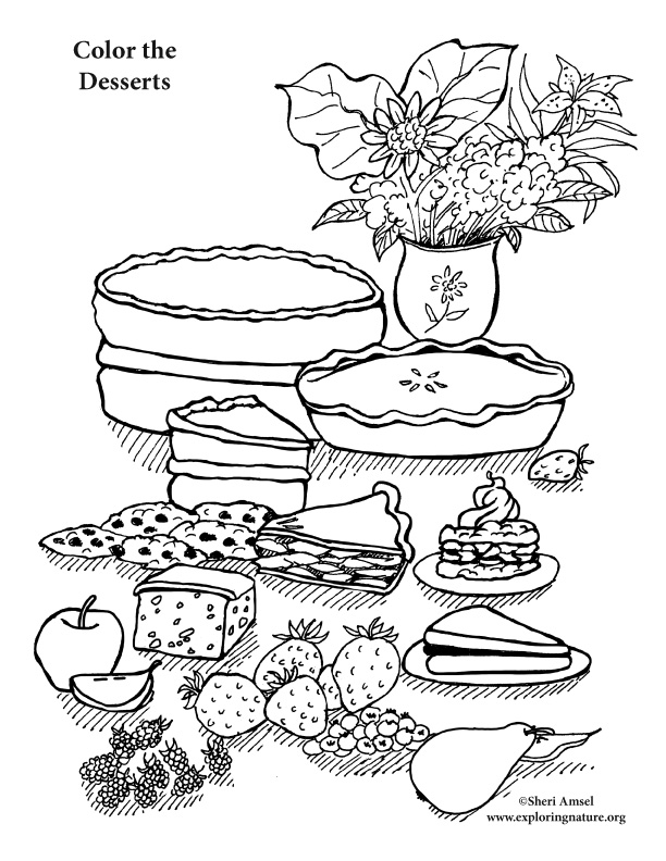 Hard dessert coloring pages - photo#12