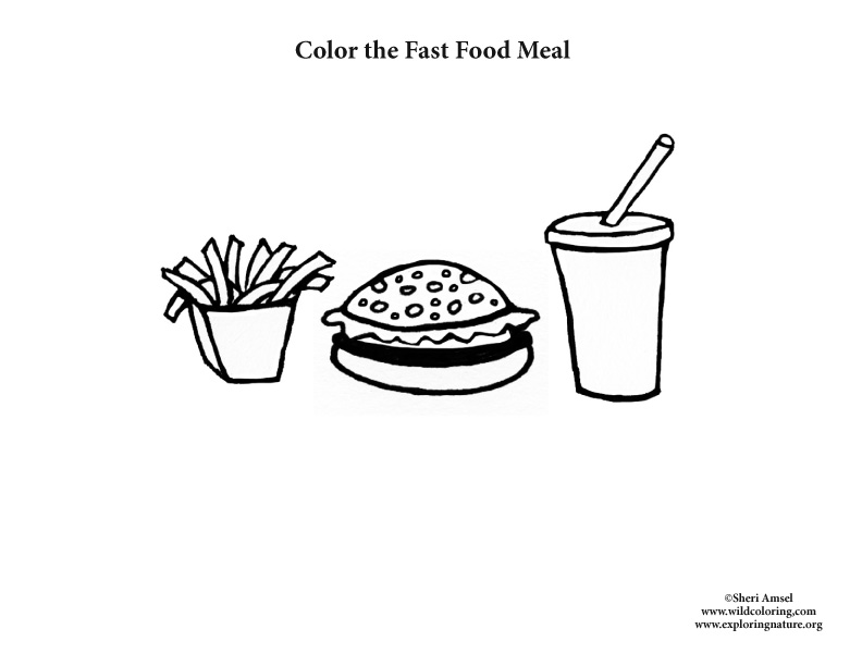 Color the Fast Food Meal