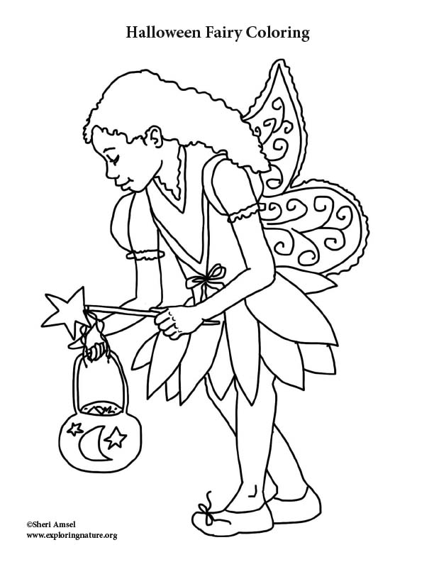 Halloween Fairy Coloring Page