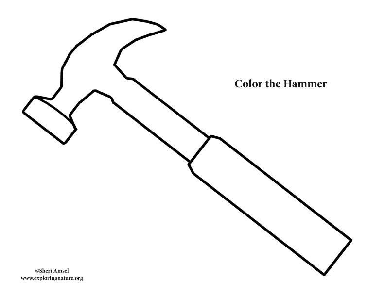 coloring pages hammer | Hammer Coloring Page