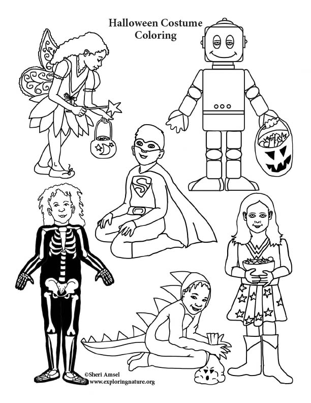 Halloween Costume Coloring