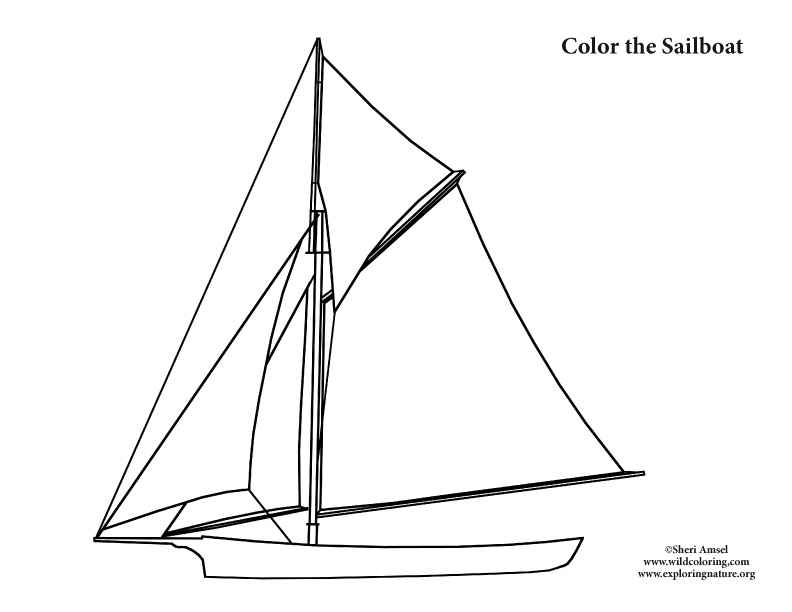 Color the Sailboat