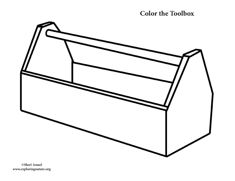 Toolbox coloring page for Tools coloring page