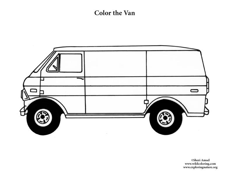 Van Coloring Page