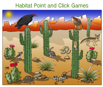 Desert Habitat Matching Game