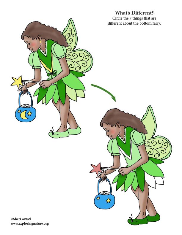 Halloween Fairy - What's Different Activity