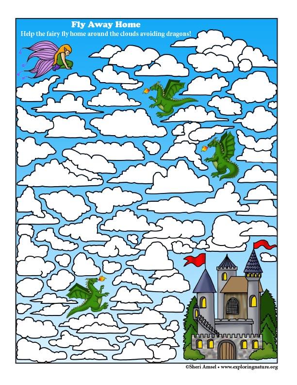 Fly Away Home Fairy Maze
