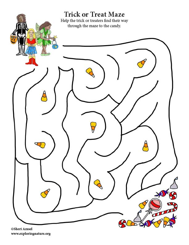 Trick or Treat Candy Maze
