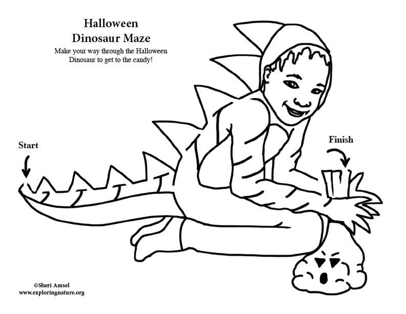 Halloween Dinosaur Maze