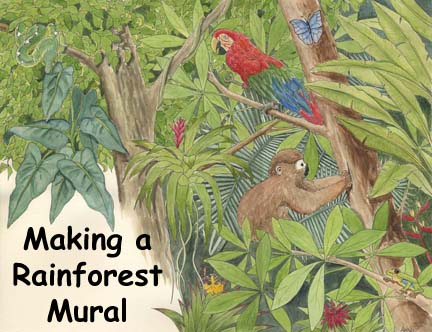 Rainforest Mural Activity Parts