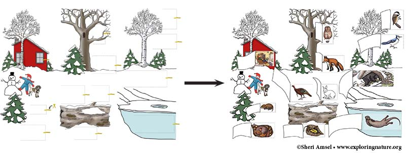 Winter Wildlife Puzzle Mural