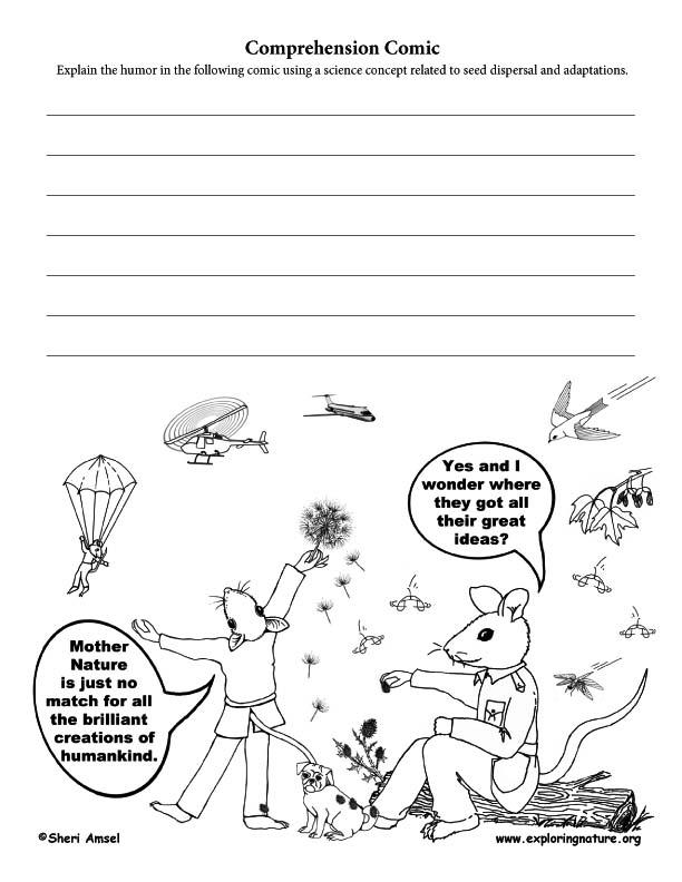 Seed Dispersal Adaptation Comic