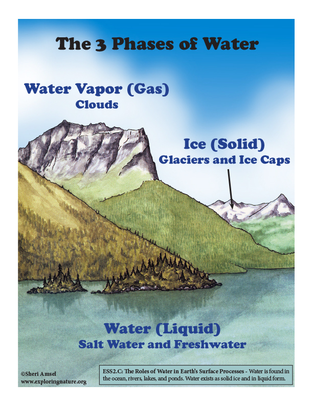 Phases of Water in Nature - Mini-Poster
