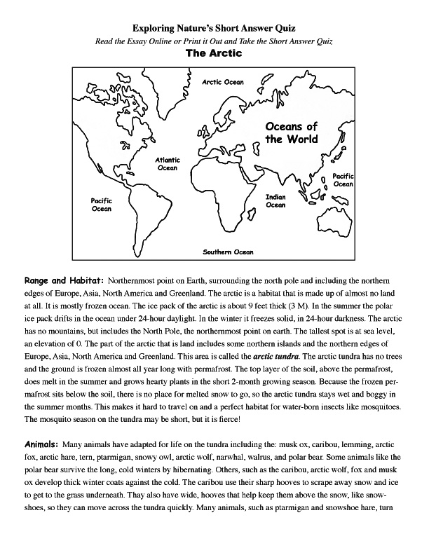 Arctic Read and React Quiz