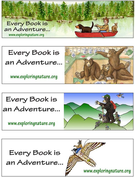 Adventure Bookmarks - Full Color