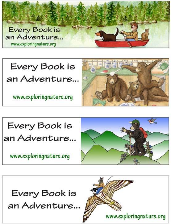 Adventure Bookmarks - Full Color