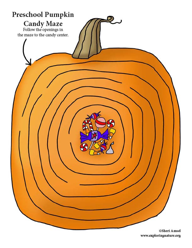 Halloween Candy Maze (Preschool)