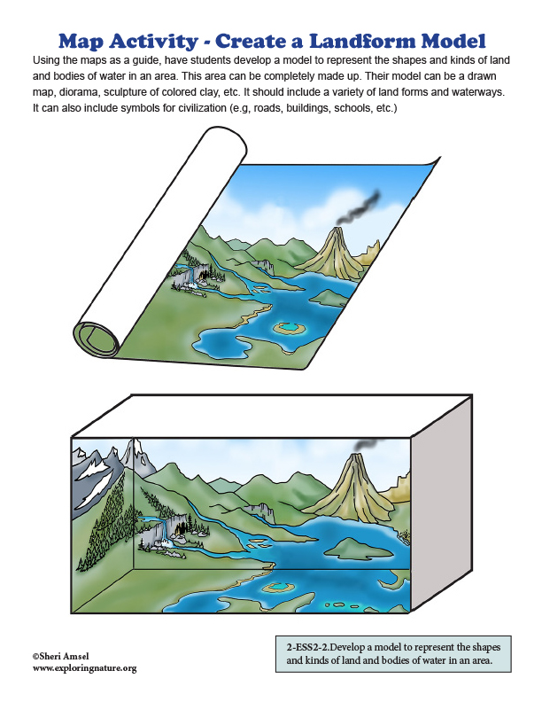 Map Activity - Create a Landform Model - Grade 2