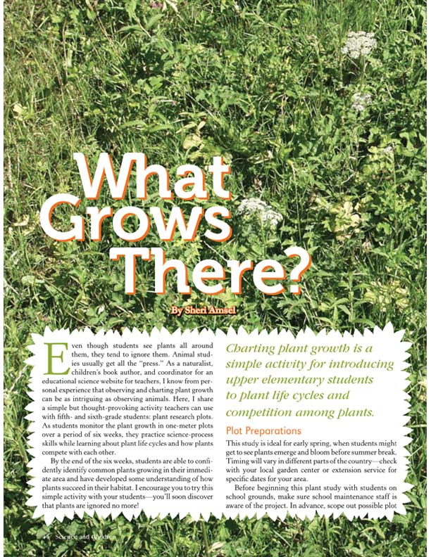 What Grows Here? Inquiry-based Plant Activity