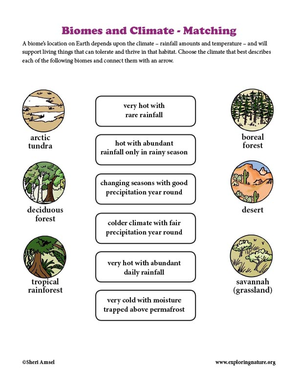 Biomes and Climate - Matching