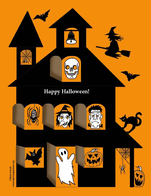 Haunted House Poster with Secret Doors