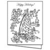 Mouse Holiday Gift Cards - Color Your Own